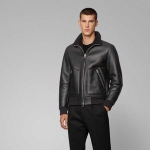 Hugo boss shearling lambskin jacket